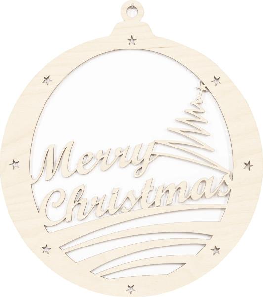 """Dekohänger Holz Kugel """"Merry Christmas"""""""
