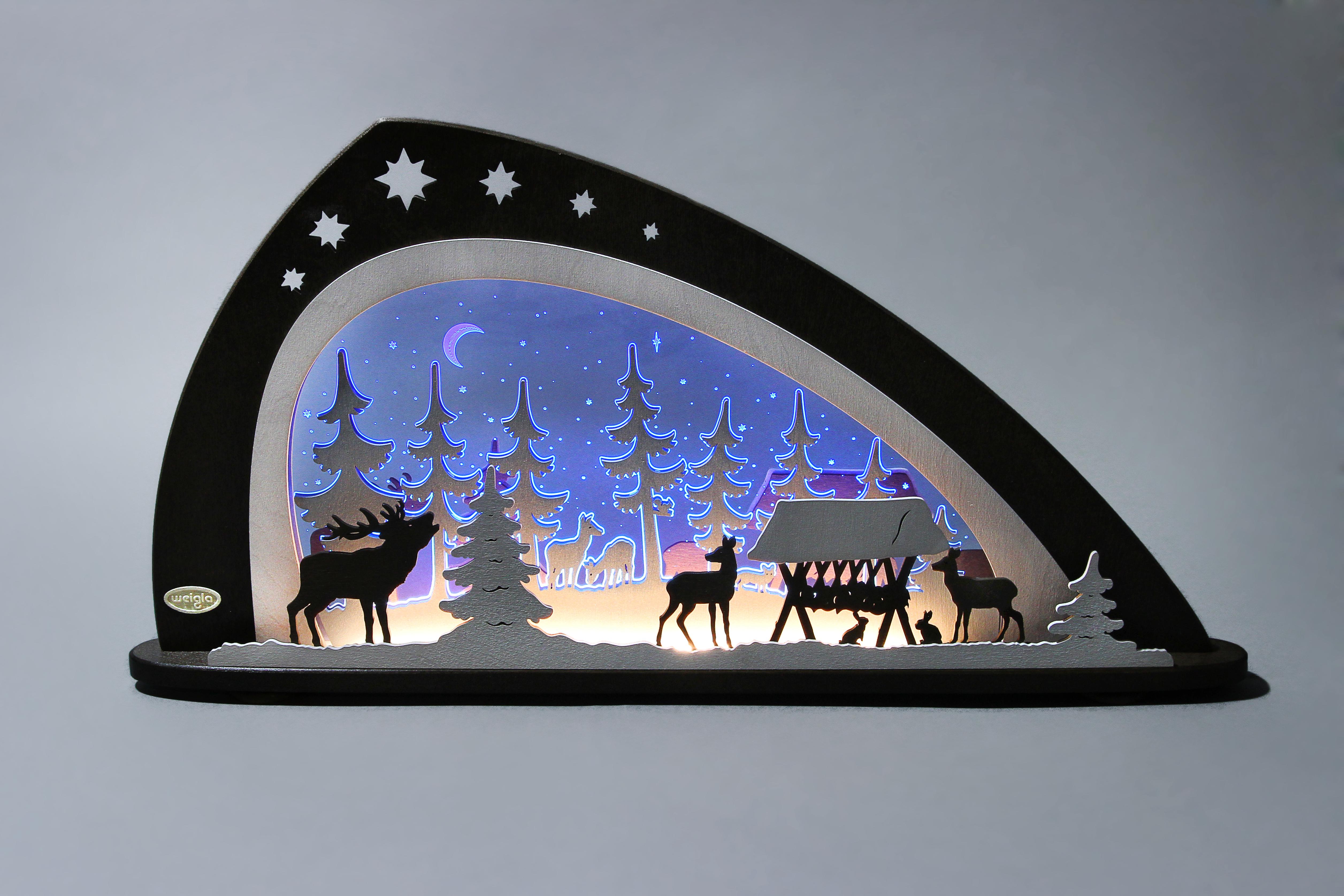 LED Schwibbogen Lights Arch Window Bank schwibbogenbank with Adapter