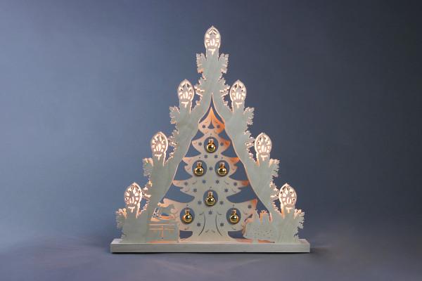 """Lichterspitze 7 flg. """"Weihnachtsbaum mit goldenen Kugeln"""""""