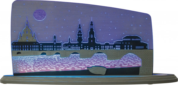 Motivleuchte Dresden bei Nacht