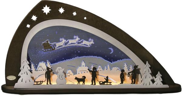 LED Schwibbogen Santa Claus