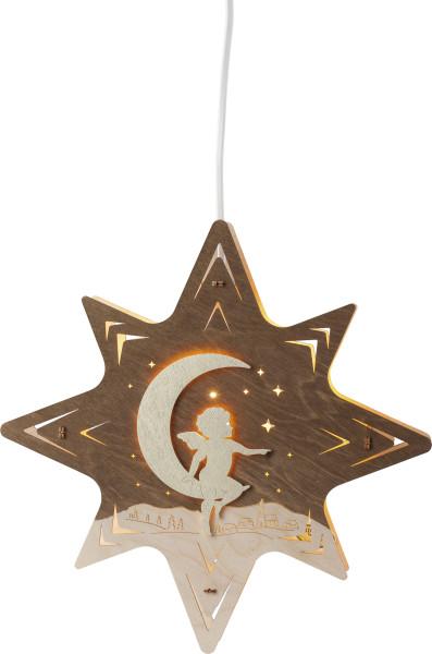 Fensterbild Stern Engel auf Mond FI1SEM