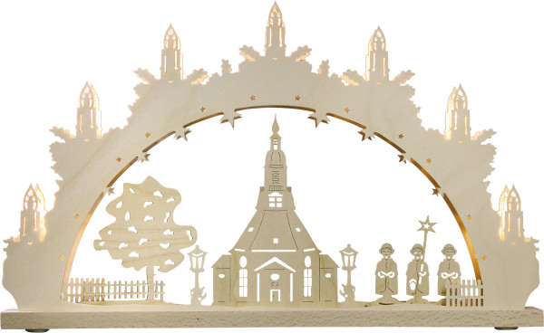 "Light arch ""Church of Seiffen"" with 7 bulbs"