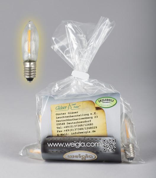 LED Riffelkerzen 10 x 23 V, 0,2 W, E10