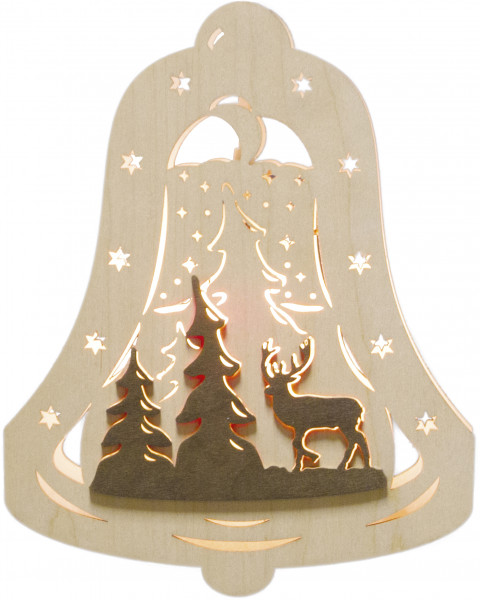 """Window light bell """"Forest"""" with 1 bulb"""