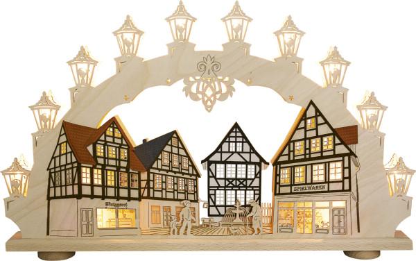 Schwibbogen 15 flammig Altstadt