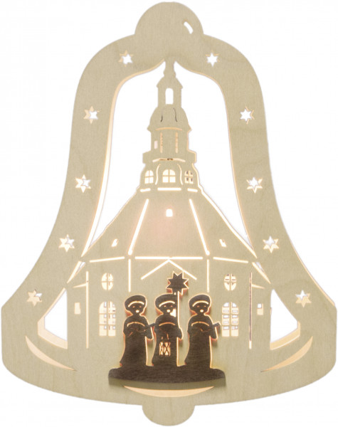 """Window light bell """"Carolers"""" with 1 bulb"""