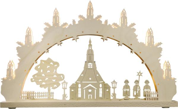 Schwibbogen 7 flammig Seiffener Kirche