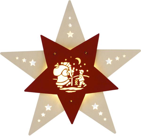 Fensterbild Stern LED Knecht Ruprecht