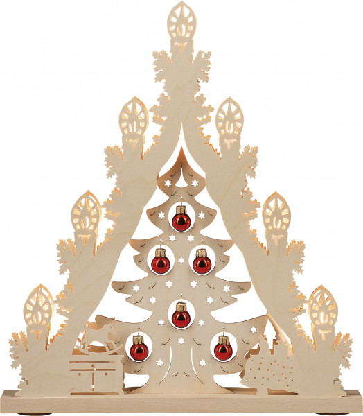 "Light pyramid ""Christmas tree with gold ornaments"" with 7 bulbs"