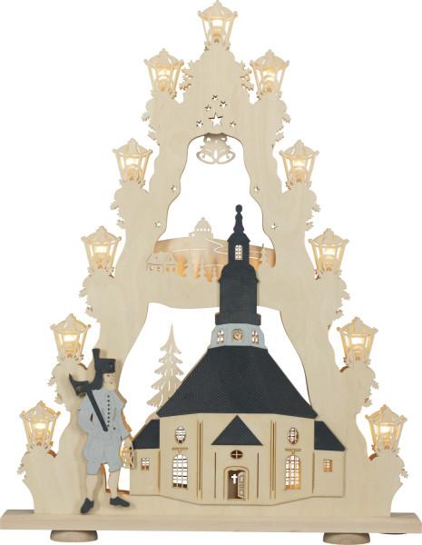 Lichterspitze 15 flammig Seiffener Kirche