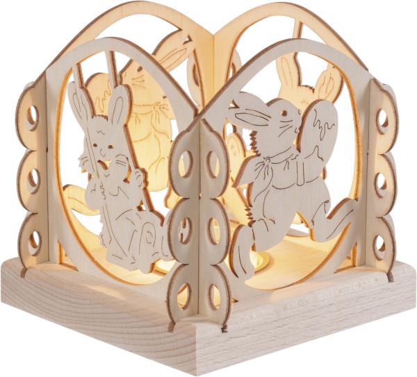 "Tealightholder ""Easter Bunnies"" for 1 Tealight"