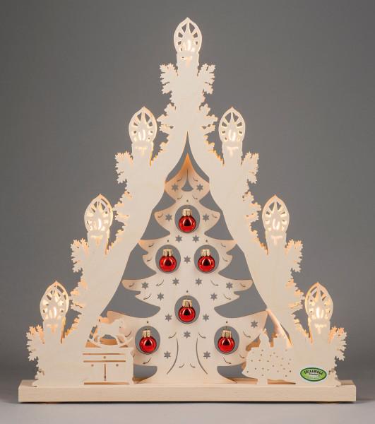 """Lichterspitze 7 flg. """"Weihnachtsbaum mit roten Kugeln"""""""