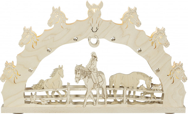 Schwibbogen Pferde