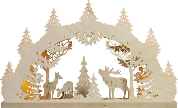 """Light arch """"Deer Familiy"""" with 7 bulbs"""