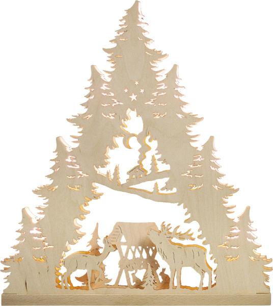 Lichterspitze 7 flammig Hirschfamilie