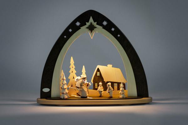 LED Lichterspitze Waldweihnacht (inkl. handgeschnitzter Figuren)