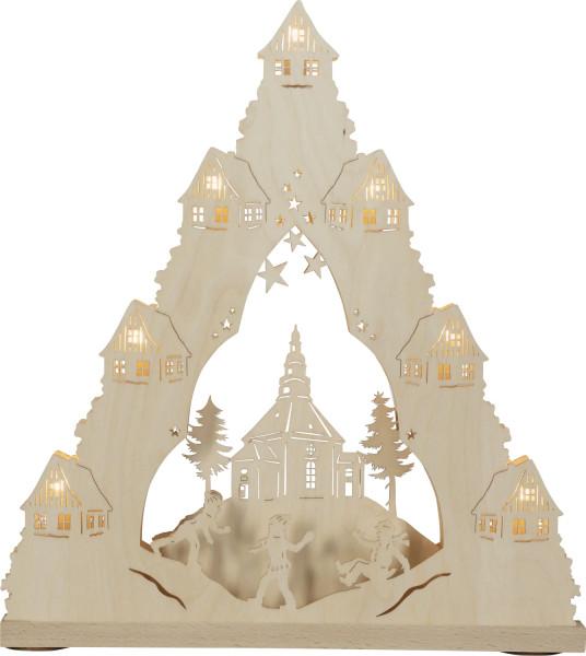 Lichterspitze 7 flammig Seiffener Kirche