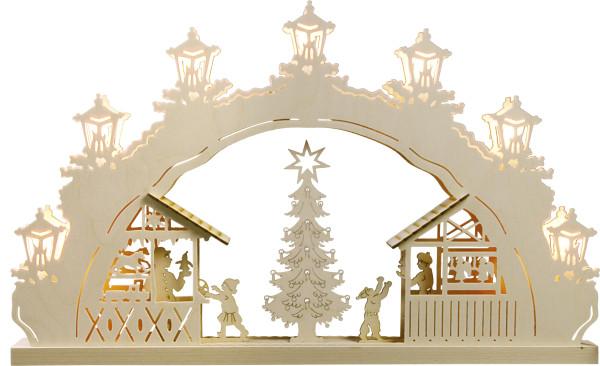 Schwibbogen 7 flammig Weihnachtsmarkt